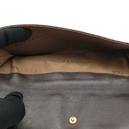 Bvlgari(불가리) LIEGER 로고 자가드 장지갑