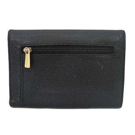 Chanel(샤넬) A13225Y01864 COCO로고 캐비어스킨 3단 중지갑 이미지3 - 고이비토 중고명품