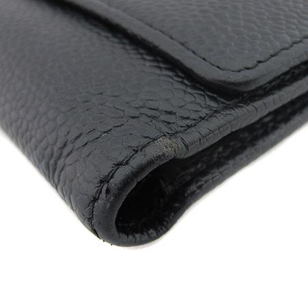 Chanel(샤넬) A13225Y01864 COCO로고 캐비어스킨 3단 중지갑 이미지4 - 고이비토 중고명품