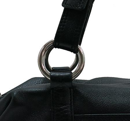 Prada(프라다) BR2630 삼각 로고 장식 블랙 레더 토트백