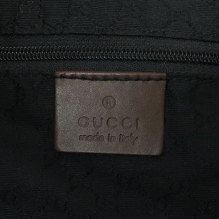 Gucci(구찌) 001 3346 패브릭 삼색 스티치 브라운 레더 트리밍 재키 숄더백