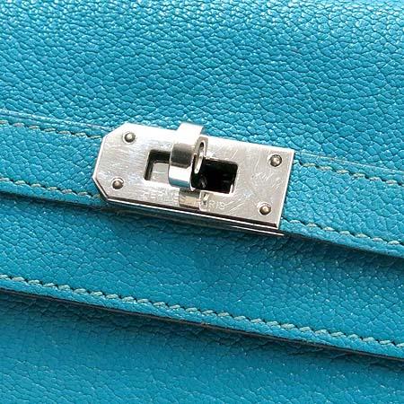 Hermes(에르메스) 은장 블루 레더 켈리 장지갑 [압구정매장] 이미지2 - 고이비토 중고명품