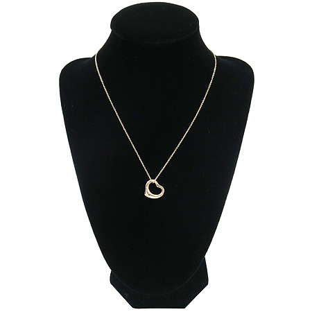 Tiffany(티파니) 18K 골드 엘사 페러티 오픈 하트 펜던트 목걸이