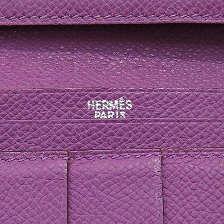 Hermes(에르메스) H은장 로고 장식 베안 장지갑 [압구정매장]