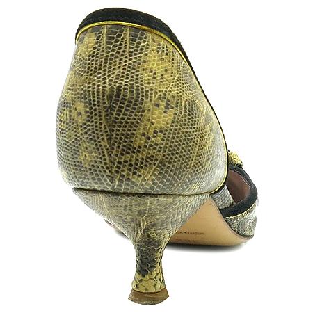 Prada(프라다) 도마뱀 패턴 레더 벨트 장식 펌프스 구두