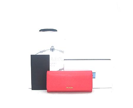Prada(프라다) 1M1349 핑크 사피아노 금장 로고 장지갑+카드홀더
