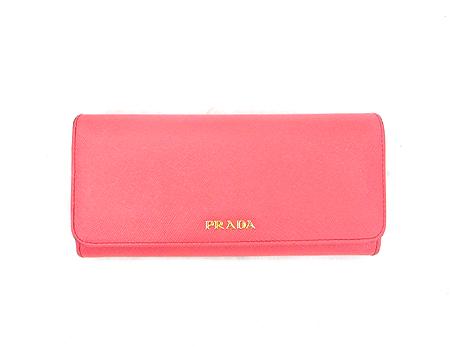 Prada(프라다) 1M1349 핑크 사피아노 금장 로고 장지갑+카드홀더 [강남본점] 이미지2 - 고이비토 중고명품
