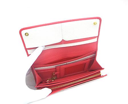 Prada(프라다) 1M1349 핑크 사피아노 금장 로고 장지갑+카드홀더 [강남본점] 이미지3 - 고이비토 중고명품