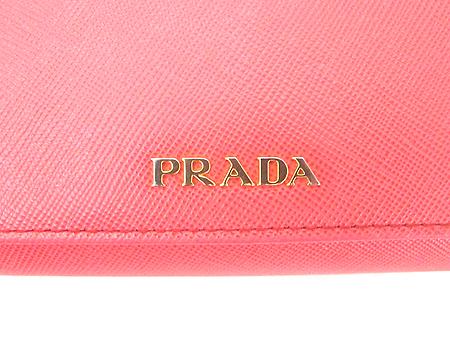 Prada(프라다) 1M1349 핑크 사피아노 금장 로고 장지갑+카드홀더 [강남본점] 이미지4 - 고이비토 중고명품