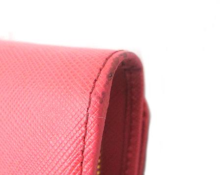Prada(프라다) 1M1349 핑크 사피아노 금장 로고 장지갑+카드홀더 [강남본점]