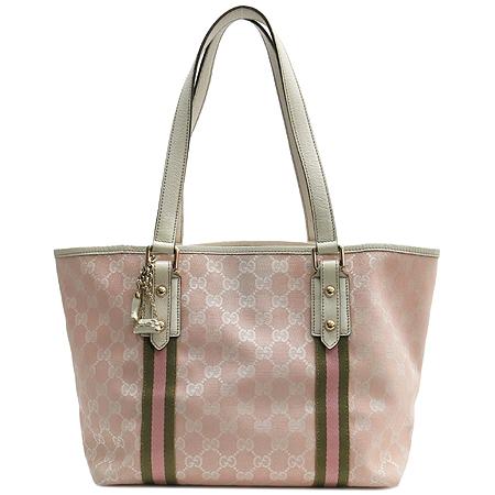 Gucci(구찌) 137396 GG로고 핑크 자가드 숄더백