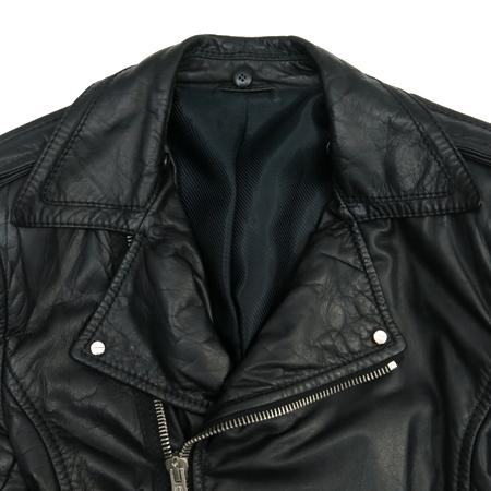 Balenciaga(발렌시아가) 블랙 램스킨 은장 지퍼 남성 라이더 자켓 이미지2 - 고이비토 중고명품