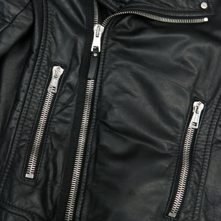 Balenciaga(발렌시아가) 블랙 램스킨 은장 지퍼 남성 라이더 자켓 이미지4 - 고이비토 중고명품