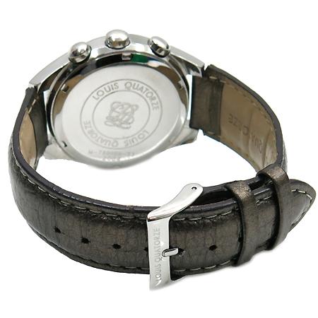 Louis_Quatorze(루이까또즈) M-78BRBR 크로노 라운드 스틸 가죽밴드 남여공용 시계