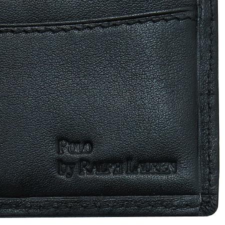 Polo Ralphlauren(폴로) 블랙 레더 반지갑