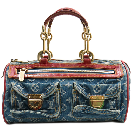 Louis Vuitton(루이비통) M95013 데님 스피디 크로커다일 트리밍 토트백