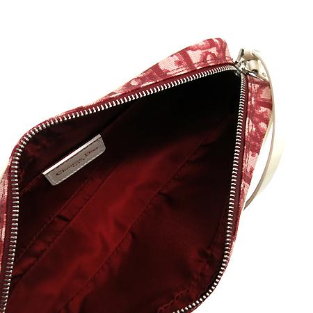 Dior(크리스챤디올) 로고 자가드 화이트 페이던트 트리밍 파우치 겸 숄더백