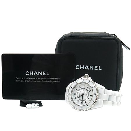 Chanel(샤넬) H0968 J12 33MM 데이트 화이트 세라믹 쿼츠 여성용 시계 [명동매장]