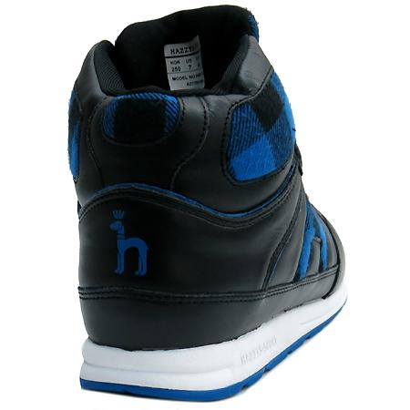 HAZZYS(해지스) HM7F1F505BL 블루 체크 하이탑 스니커즈