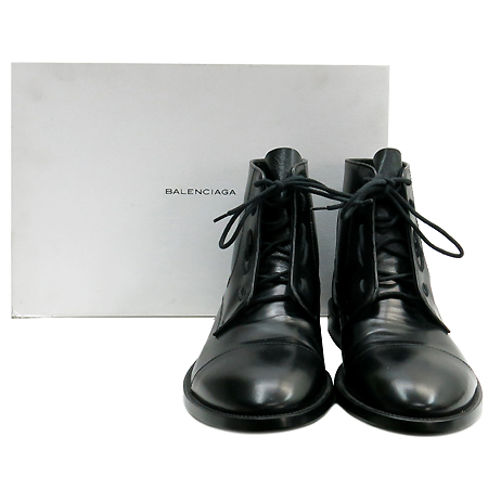 Balenciaga(발렌시아가) 273196 블랙 레더 남성용 부츠