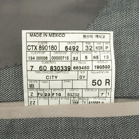 Zegna(제냐) 그레이컬러 실크혼방 자켓