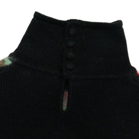 Versace(베르사체) 앙고라혼방 멀티블랙컬러 니트 나시