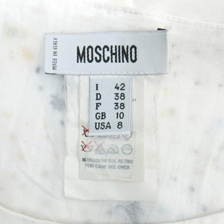 Moschino(모스키노) 화이트컬러 비즈장식 반팔 원피스 [동대문점] 이미지5 - 고이비토 중고명품