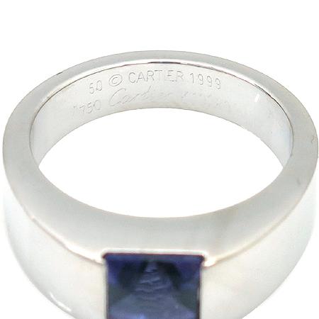 Cartier(까르띠에) 18K 화이트 골드 루비 반지