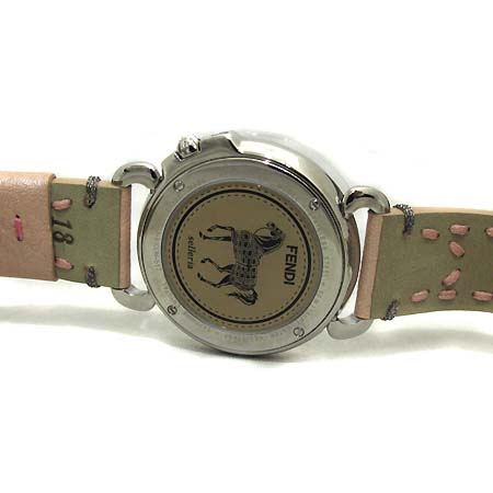 Fendi(펜디) F81034H 셀러리아 8100M 자개판 핑크 밴드 남여 공용 시계 [부천 현대점]