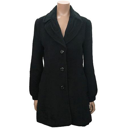 ABFZ(에비에프제트) 블랙컬러 알파카혼방 코트