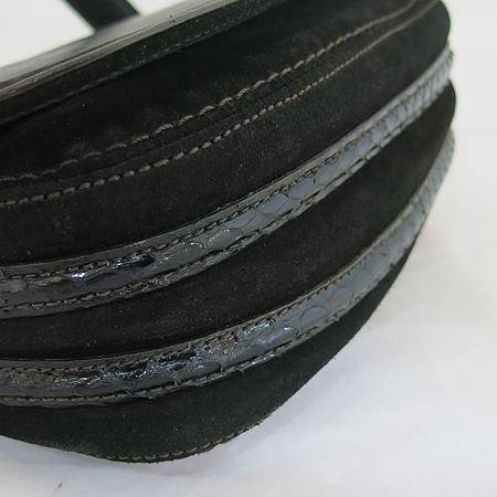 Cartier(까르띠에) 블랙 파이톤 트리밍 램스킨 레더 라 베자스 마르첼로 드 까르띠에 S 사이즈 숄더백 + 스트랩