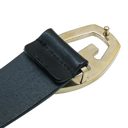 Gucci(구찌) 146433 블랙레더 GG로고 금장버클 벨트