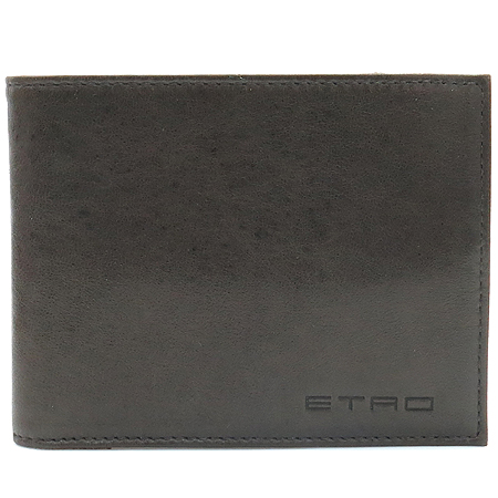 Etro(에트로) 그레이 레더 스티치 동전수납 남성 반지갑 [동대문점] 이미지2 - 고이비토 중고명품