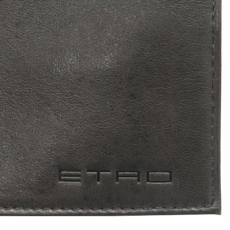Etro(에트로) 그레이 레더 스티치 동전수납 남성 반지갑 [동대문점] 이미지3 - 고이비토 중고명품
