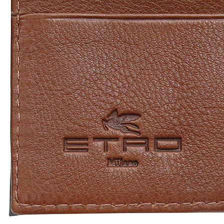 Etro(에트로) 그레이 레더 스티치 동전수납 남성 반지갑 [동대문점]