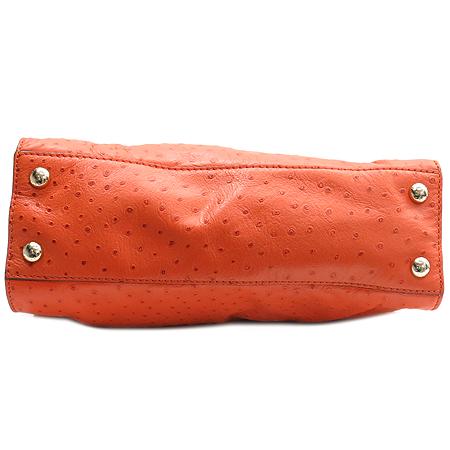 MICHAELKORS(마이클코어스) MMF5BAQ70 807 해밀톤 오스트리치 패턴 오렌지 금장 락 장식 체인 2WAY