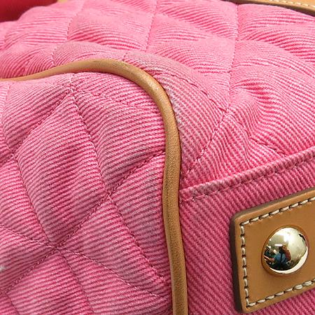 MULBERRY(멀버리) HP8523 242 베이스워터 핑크 데님 퀼팅 레더 혼방 금장로고 토트백