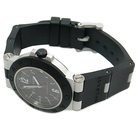 Bvlgari(불가리) AL38TA 디아고노 알루미늄 오토매틱 카본 다이얼판 러버밴드 남성용 시계