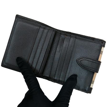 Burberry(버버리) 클래식 체크 PVC 브라운 레더 반지갑