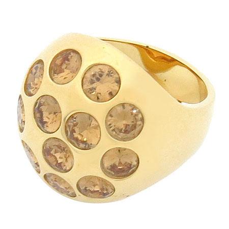 Swarovski(스와로브스키) 금장 장식 반지