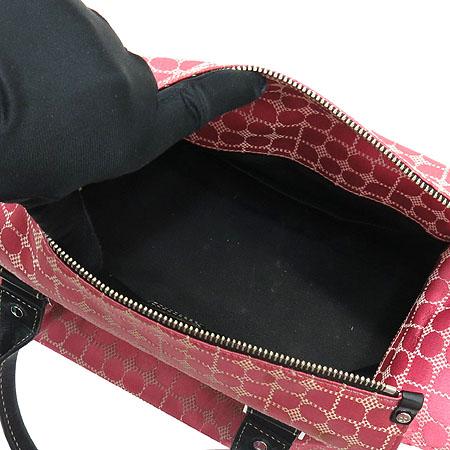 KATESPADE(케이트스페이드) 핑크 자가드 블랙레더 혼방 토트백