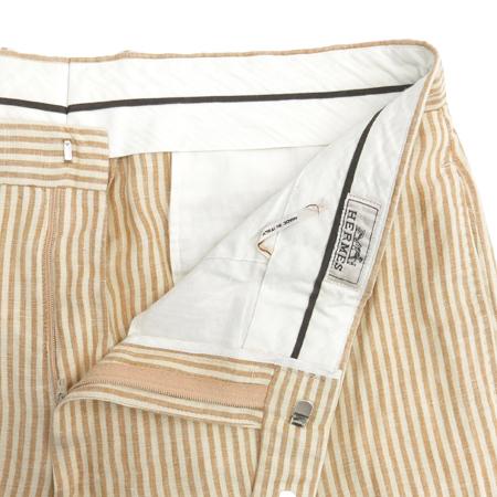 Hermes(에르메스) 브라운 컬러 스프라이프 패턴 바지 이미지2 - 고이비토 중고명품