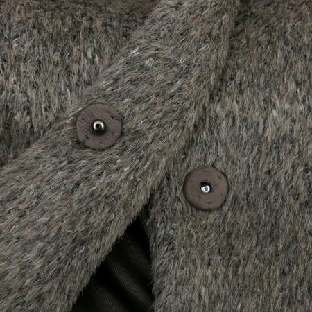 MICHAA(미샤) 그레이 컬러 퍼 코트(허리끈 SET)