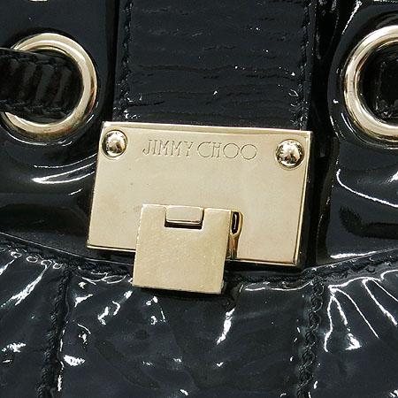 JIMMY CHOO(지미추) 블랙 페이던트 금장 로고 장식 라모나 숄더백 [동대문점] 이미지4 - 고이비토 중고명품