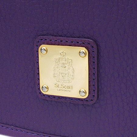 ST.SCOTT(세인트 스코트) 퍼플 레더 금장 로고 장식 크로스백
