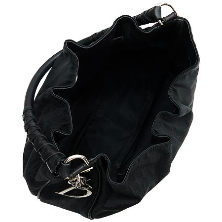 Dior(크리스챤디올) 디오르시모 블랙 패브릭 레더 혼방 로고 참 장식 숄더백
