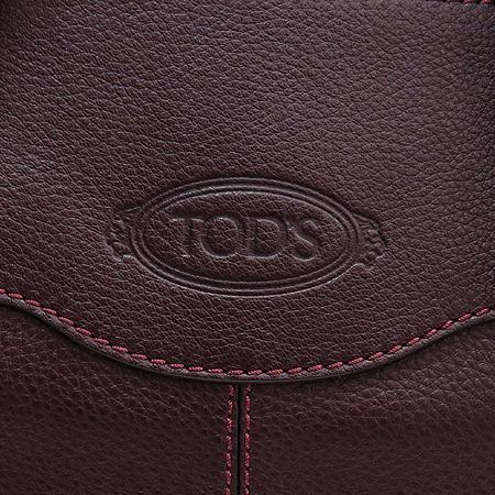 Tod's(토즈) 퍼플레더 로고 스탬핑 토트백 [명동매장]