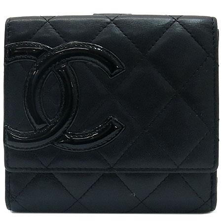 Chanel(샤넬) A50099Y03880 C2054 깜봉 S사이즈 블랙 로고 스티치 더블 반지갑 [명동매장]