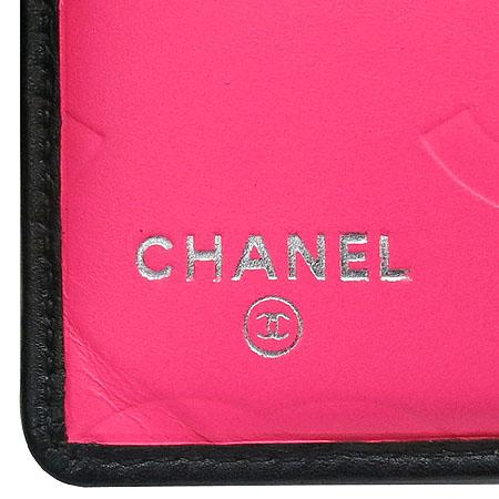 Chanel(샤넬) A50099Y03880 C2054 깜봉 S사이즈 블랙 로고 스티치 더블 반지갑 [명동매장] 이미지4 - 고이비토 중고명품