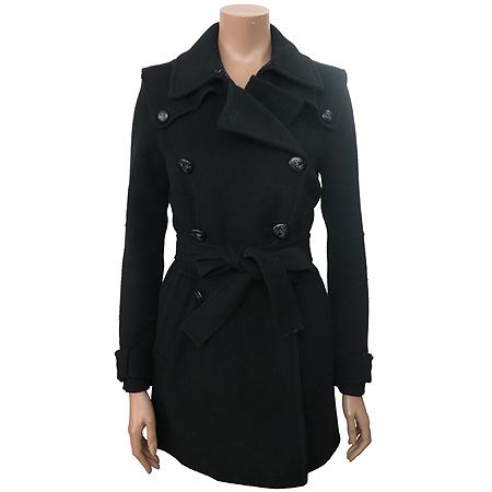 Jill Stuart(질스튜어트) 블랙컬러 캐시미어혼방 코트 (허리끈SET)